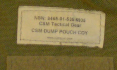 0c. Real Deal Coyote Brown Drop/Dump Pouch.