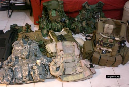 1. Various Vests & Body Armor