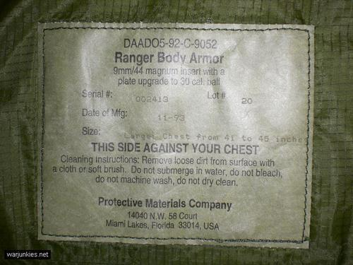 - 75th Ranger Regiment RBA Vest