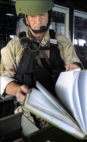 Navy SEAL VBSS Team Leader with Peltor Radio...