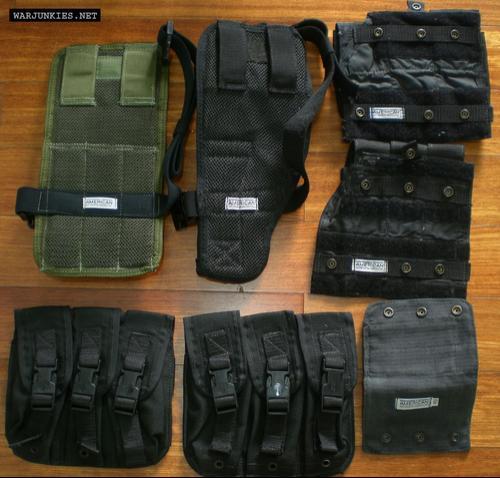 ABA (American Body Armor) pouches.